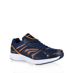 Mens-Lightning-Bolt-Harvey-Navy-Sneakers-Runners-Casual-Athletic-Comfort-Shoes