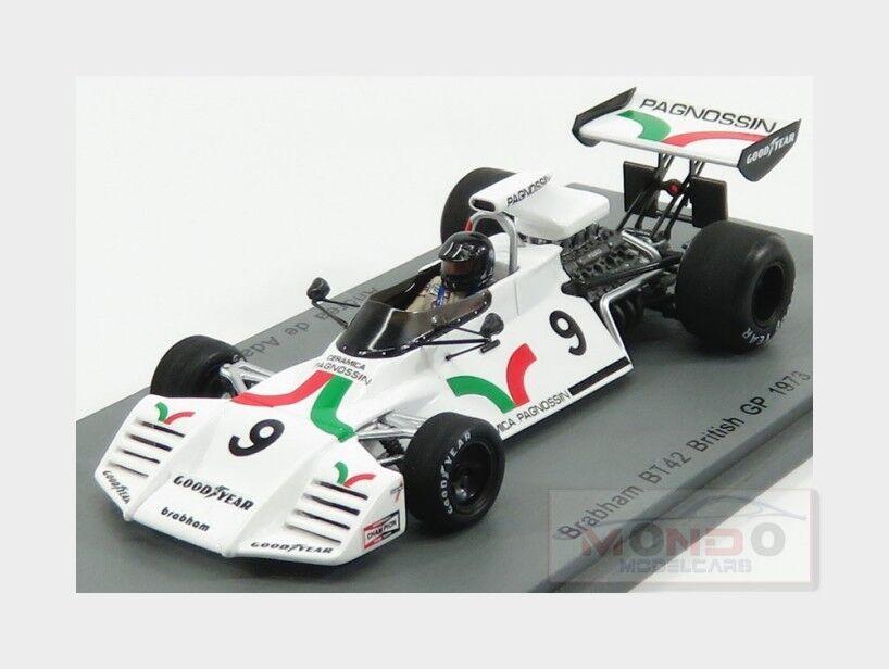 Brabham F1 Bt42  9 England Gp 1973 A.De Adamich bianca SPARK 1:43 S5269