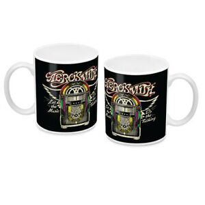 Aerosmith Ceramic Coffee Mug Cup Official Let the Music Do the Talking 330ml