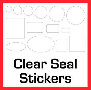 Permanente Transparent Joint Stickers Étiquettes Autocollantes Cercles