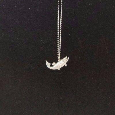 Lachs Breite Öffnung Bass Fisch Zinn Silber Kandare Link Kette Halskette Durchsichtig In Sicht Uhren & Schmuck