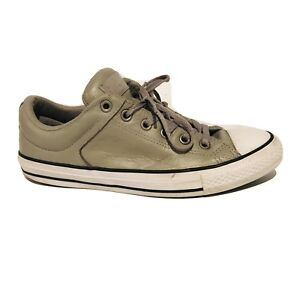 879a20d5616dfa Converse Chuck Taylor All Star Low Top Gray Leather Shoes Women s ...