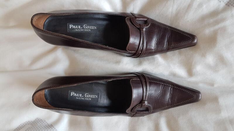 Sinnvoll Paul Green Damenschuhe Pumps, Gr. 5,5 - 38 Braun Leder Mit Absatz Sehr Gut