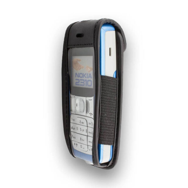caseroxx Leather-Case with belt clip for Nokia 2310 in black made of real leathe