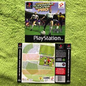 PS1-International-Superstar-Futbol-pro-Frontal-amp-Parte-Trasera
