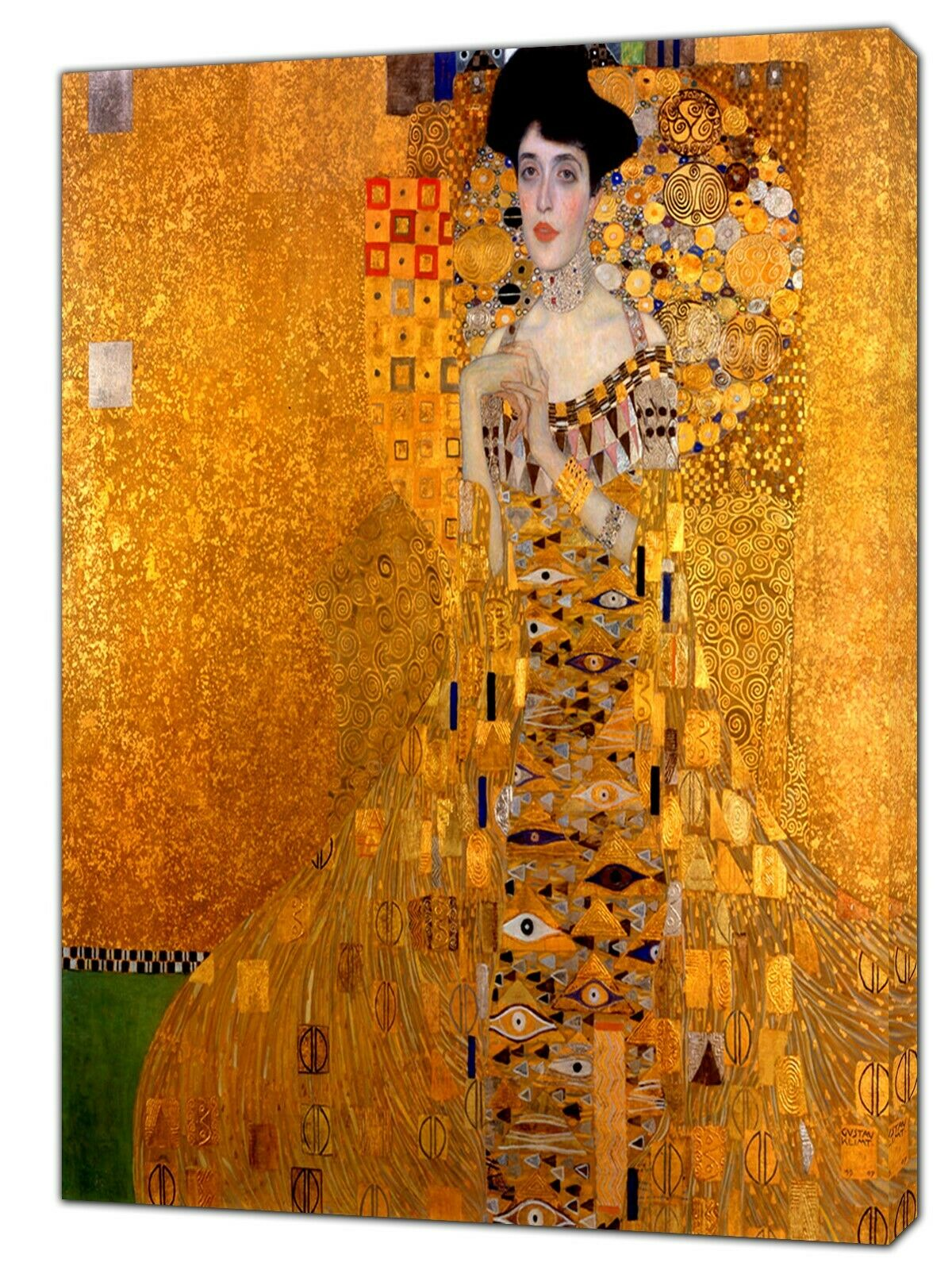 Gustav Klimt Adele Bosh Oil Paint   Reprint On Framed Canvas Wall Art Home Decor