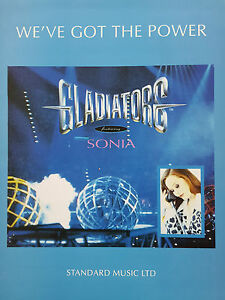 Gladiators feat Sonia We039ve Got The Power PianoVocalGuitar Sheet Music - <span itemprop='availableAtOrFrom'>Broadstairs, Kent, United Kingdom</span> - Gladiators feat Sonia We039ve Got The Power PianoVocalGuitar Sheet Music - Broadstairs, Kent, United Kingdom