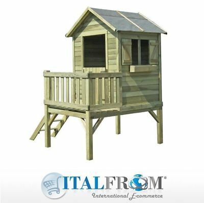 Garden playhouse for kids wooden wendy house children for Casetta giardino bimbi usata