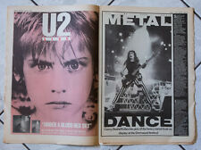 IRON MAIDEN 1984 Vintage SOUNDS large magazine + RARE U2 insert ideal to frame