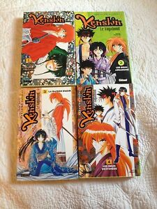 Manga Kenshin le vagabond 1 à 4 - France - État : Trs bon état: Livre qui ne semble pas neuf, ayant déj été lu, mais qui est toujours en excellent état. La couverture ne présente aucun dommage apparent. Pour les couvertures rigides, la jaquette (si applicable) est incluse. Aucune p - France