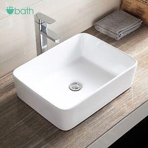 Ceramic Bathroom Vessel Sink Porcelain Bowl Vanity Countertop Basin Ebay