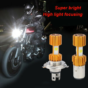H4-6000LM-LED-Motorcycle-Moped-Headlight-Bulb-Fog-Light-DRL-White-RGB-Strobe