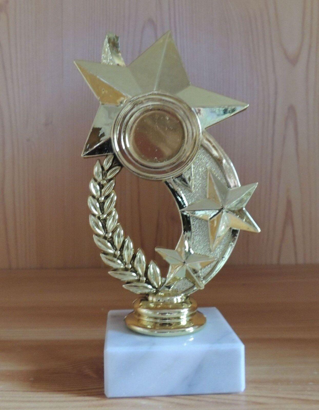 10 10 10 Pokale Figuren Stern mit Marmor 15cm  181 (Pokal Ehrenpreis Muttertag Sport) 55448f