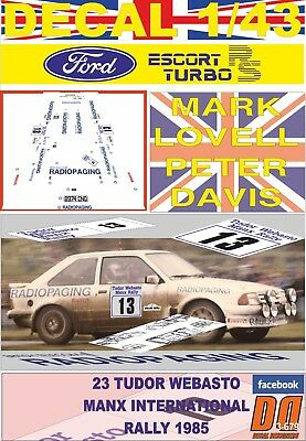 DECAL FORD RS200 M.LOVELL MANX INTER 01 R 1986 3rd