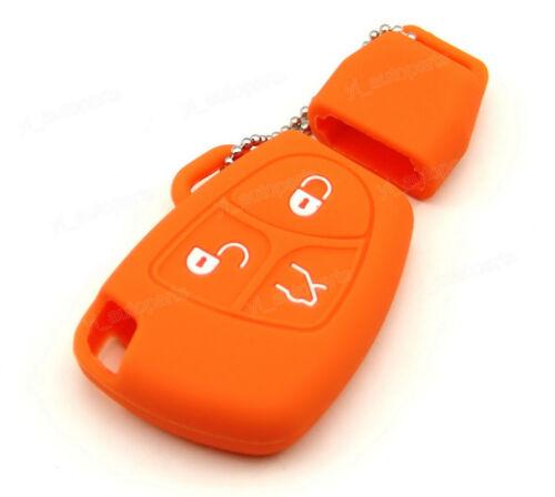 Orange Silicone Case Cover For Benz C E G R CL ML CLK SLK Remote Smart Key Z3OR
