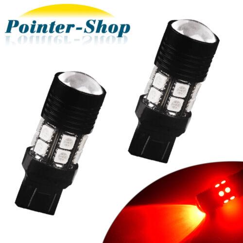 2x Red 7443//7440 High Power 7W Chips Brake//Stop//Tail//Parking LED Light Bulbs 12V