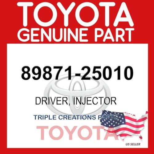 89871-25010 OEM GENUINE TOYOTA DRIVER INJECTOR 8987125010