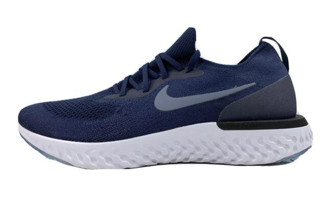 Nike Epic React Flyknit Running Shoes College Blue/Grey AQ0067-402 Men Size 13