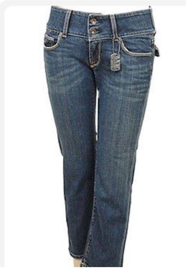 Arch Indigo Honor Capri Womens Jeans Medium Wash 27  169