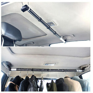 new car clothes hanger bar suit coat hanger travel suv adjustable 688934678542 ebay. Black Bedroom Furniture Sets. Home Design Ideas