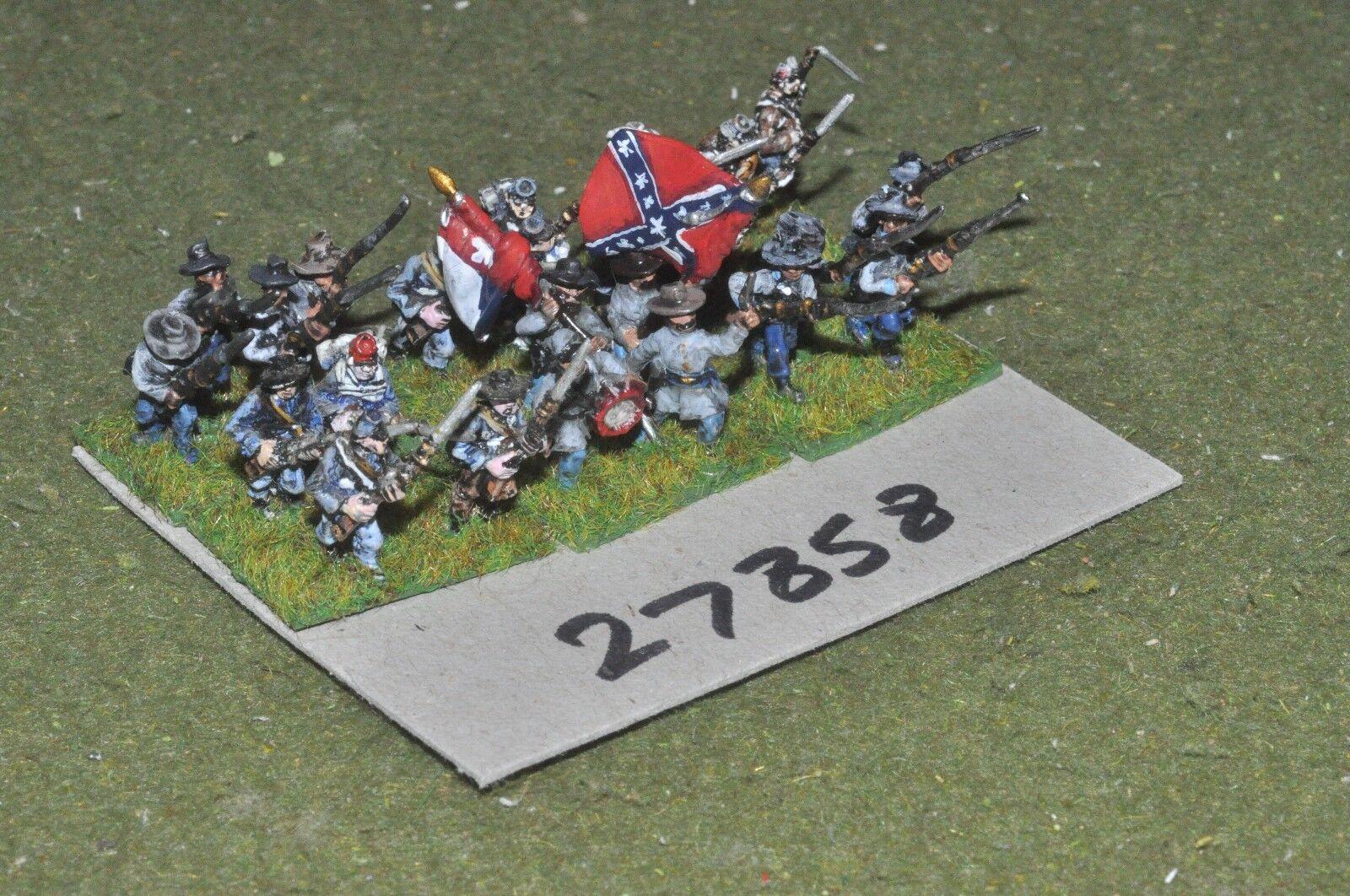 15mm ACW   confederate - regiment 24 figures - inf (27858)