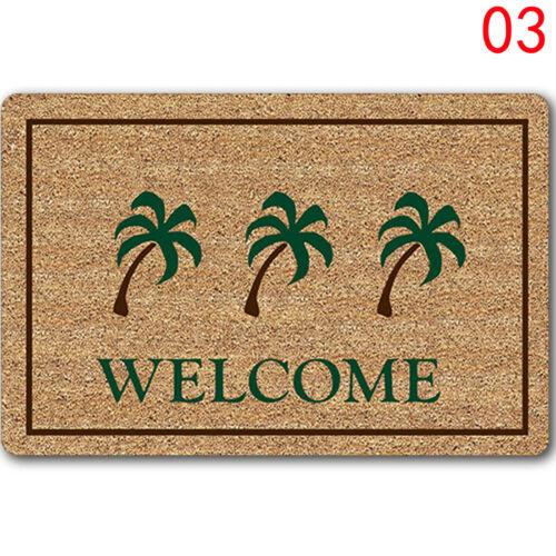 Funny Letters Welcome Home Entrance Floor Rug Non-slip Doormat Carpet Door Mat