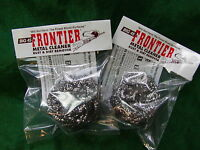 Big 45 Frontier Metal-bore Cleaner Pads 'removes Rust Leaves Bluing' Lot Of Two