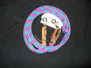 Weaver-Poly-Roping-Baril-Tresse-Corde-Renes-8-FT-environ-2-44-m-Bright-Turquoise-Rose