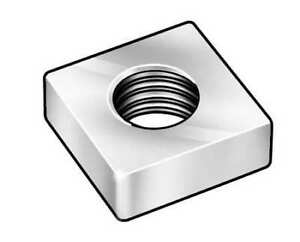 Pack of 12 10//24 Zinc Plated Square Nuts