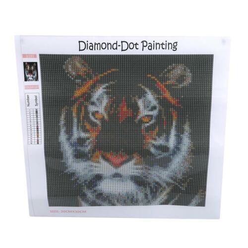 Tiger Pattern Embroidery Cross Stitch Craft Kit DIY 5D Diamond Painting LP