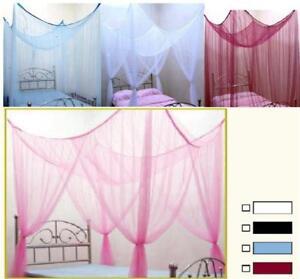 Moskitonetz-Betthimmel-WEISS-Bett-Doppelbett-Mueckennetz-Insektenschutz-2m
