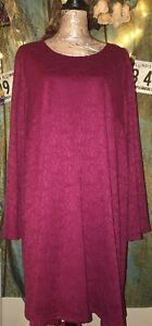 Women-s-Burgundy-Dress-Size-Plus-3X-by-Chelsea-amp-Theodore-NWOT