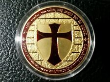 1 OZ Masonic Cross Knights Templar Coin Round Bullion