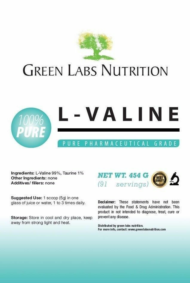 L-Valine Poudre Pure BCAA PHARMACEUTICAL PHARMACEUTICAL PHARMACEUTICAL GRADE FREE P & P 587e1d