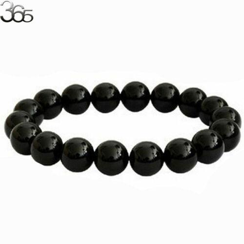 100/% Genuine AAA Grade 6-14MM  Natural Gemstone Black Tourmaline Round Bracelet