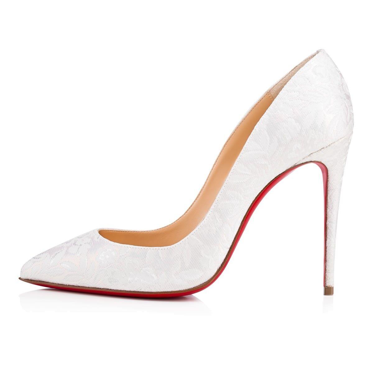 NIB Christian Louboutin Pigalle Follies 100 Weiß Weiß Weiß Latte Wedding Heel Pump 38.5 b9e576