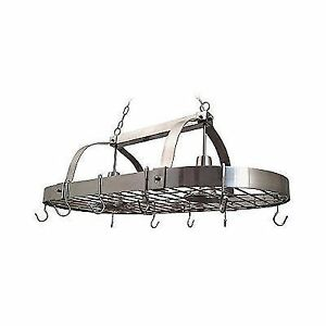 Elegant Designs Prbsn Home Collection Light Kitchen Pot Rack - Kitchen pot rack light fixtures