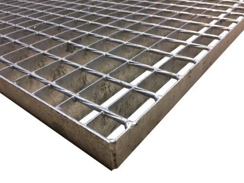 Schweißpressrost Gitterrost SP-Rost 34x38mm Treppe Podest Verzinkt 100x100cm