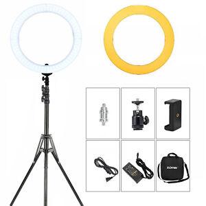 Fringant Zomei 18 In (environ 45.72 Cm) Anneau De Lumière Del Réglable Avec Support Téléphone Portable Spring Clip Holder-afficher Le Titre D'origine
