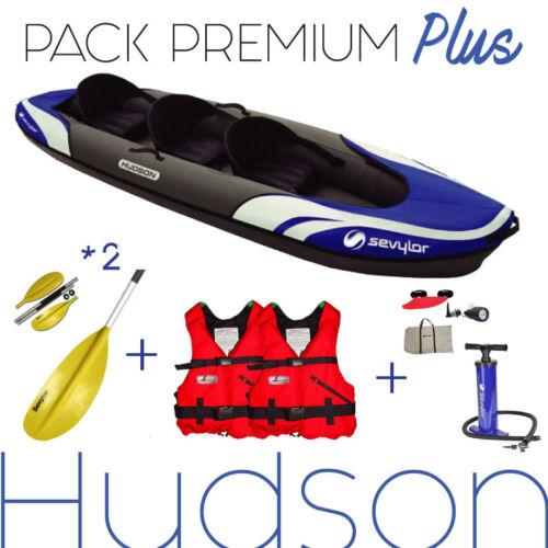 2 Paddel 2 Unterhemden KAYAK 2/3 places HUDSON SEVYLOR Packung Luxus Pumpe