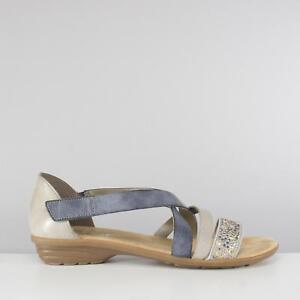 fb294a20cc3 Image is loading Rieker-V3405-42-Ladies-Womens-Strappy-Flat-Summer-
