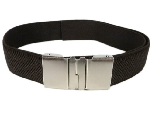 Boys /& Girls adjustable Sliding Clip Belts 5-15 Years Junior//Kids Belts