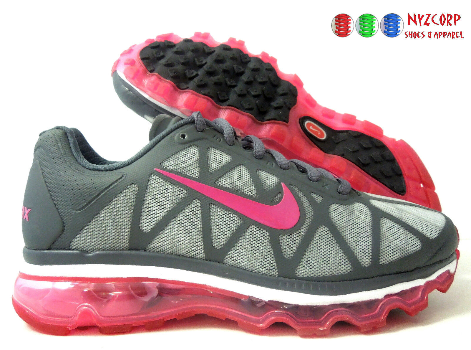 WMNS NIKE AIR MAX + 2018 iD CHARCOAL-WATERMELON PINK Price reduction Cheap women's shoes women's shoes