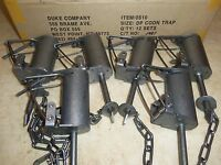 6 Duke Dp Dog Proof Coon Traps Lil Griz Trapping Foothold Trap Raccoon 0510