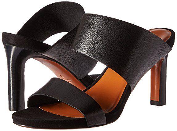 vendita scontata online di factory outlet  395 Aquatalia Donna  Baylor nero Leather Leather Leather Heel Sandal scarpe US 9.5 NEW IN BOX  vendita di offerte