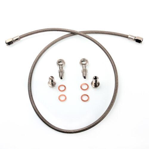 TRITDT Fits SUBARU WRX STI w// Garrett GT28R GT3071R B.B Turbo Oil Feed Line Kit