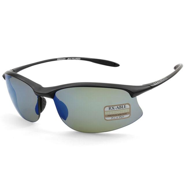 Serengeti Maestrale 8696 Satin Black/Blue Mirror Unisex Sports Sunglasses