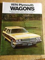 Dealer Plymouth Brochure 1974 Wagons Fury Sport Suburban Custom Satellite