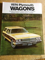 Dealer Plymouth Brochure 1974 Wagons Fury Sport Suburban Custom Satellite