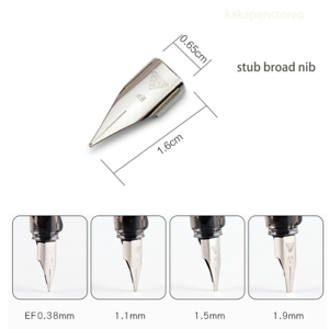1.1mm//1.5mm//1.9mm Stub Broad Nib suit for wing sung 3008 HERO 359 wing sung 3009